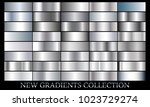 silver gradient set background... | Shutterstock .eps vector #1023729274