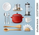 vector set of kitchenware ...