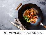 ramen stir fry noodles with... | Shutterstock . vector #1023732889