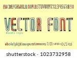 handwriting alphabets. vector...   Shutterstock .eps vector #1023732958