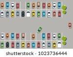 parking lot illustration  ... | Shutterstock .eps vector #1023736444