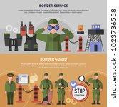 two horizontal border service...   Shutterstock .eps vector #1023736558
