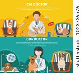 animal care professionals for... | Shutterstock .eps vector #1023736576
