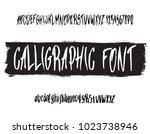 handwritten calligraphic black...   Shutterstock .eps vector #1023738946