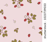 vector pattern with wild... | Shutterstock .eps vector #1023739033