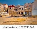 prvic luka waterfront... | Shutterstock . vector #1023741868