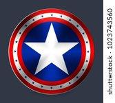 captain america shape | Shutterstock .eps vector #1023743560