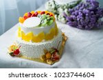 beautiful wedding cake with... | Shutterstock . vector #1023744604