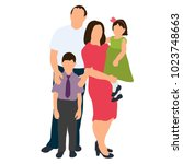 isometric people  family | Shutterstock . vector #1023748663