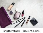 woman's purse with glamorous... | Shutterstock . vector #1023751528