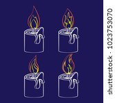 candle with fire animation....