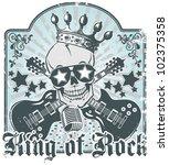 rock n roll symbol 3 | Shutterstock .eps vector #102375358