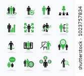 business data analysis and...   Shutterstock .eps vector #1023757834