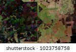 abstract geometric void texture ... | Shutterstock . vector #1023758758