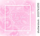 wedding card or invitation with ... | Shutterstock .eps vector #1023761050