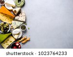 assortment of hard  semi soft... | Shutterstock . vector #1023764233