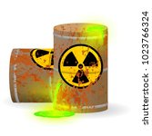 chemical radioactive waste in a ... | Shutterstock .eps vector #1023766324