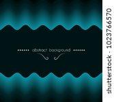wavy pattern creates a frame... | Shutterstock .eps vector #1023766570