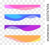 wavy design element. decor for... | Shutterstock .eps vector #1023767656
