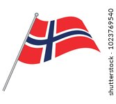 flag of norway  vector... | Shutterstock .eps vector #1023769540