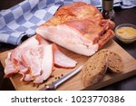 meat and sausages set of fresh... | Shutterstock . vector #1023770386