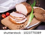 meat and sausages set of fresh... | Shutterstock . vector #1023770389