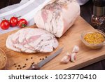 meat and sausages set of fresh... | Shutterstock . vector #1023770410