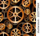 abstract mechanical background  ... | Shutterstock .eps vector #1023773464