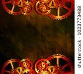 abstract grunge technology... | Shutterstock .eps vector #1023773488