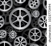 abstract mechanical background  ... | Shutterstock .eps vector #1023773494
