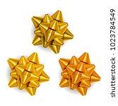 vector illustration. gold bow... | Shutterstock .eps vector #1023784549