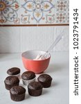 tasty cupcakes on background...   Shutterstock . vector #1023791434