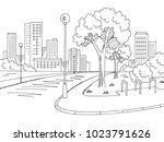 street road graphic black white ... | Shutterstock .eps vector #1023791626