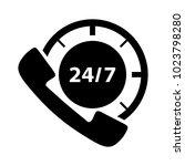 24 7 customer service icon | Shutterstock .eps vector #1023798280