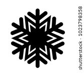 christmas winter snowflake icon | Shutterstock .eps vector #1023798358