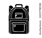 backpack flat icon | Shutterstock .eps vector #1023798538