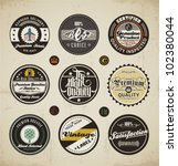 retro badges and labels set. | Shutterstock .eps vector #102380044