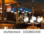 various lighting equipment... | Shutterstock . vector #1023801430