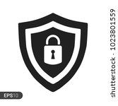 abstract security vector icon... | Shutterstock .eps vector #1023801559