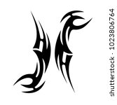 tattoo tribal vector design.... | Shutterstock .eps vector #1023806764