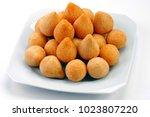 coxinha de galinha   brazilian... | Shutterstock . vector #1023807220