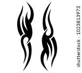 tattoo tribal vector design.... | Shutterstock .eps vector #1023813973