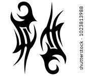 tattoo tribal vector design.... | Shutterstock .eps vector #1023813988