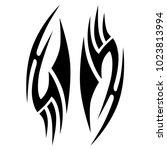 tattoo tribal vector design. | Shutterstock .eps vector #1023813994