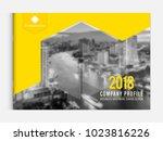 business brochure cover design... | Shutterstock .eps vector #1023816226