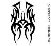 tattoo tribal vector design.... | Shutterstock .eps vector #1023820840