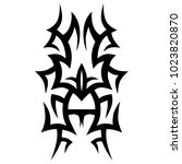 tattoo tribal vector design.... | Shutterstock .eps vector #1023820870