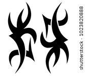 tattoo tribal vector design. | Shutterstock .eps vector #1023820888