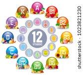 mineral vitamin supplement... | Shutterstock .eps vector #1023821230