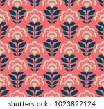 seamless retro pattern with... | Shutterstock .eps vector #1023822124
